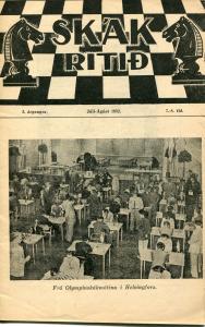 1952 Ólympíumótið - kápumynd af Skákritinu