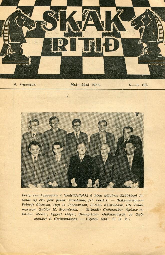 1953 Skákþing Íslands - kápa