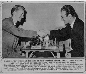 FRIÐRIK VS. KORCHNOI í Hastings 1955-56.2014 151957