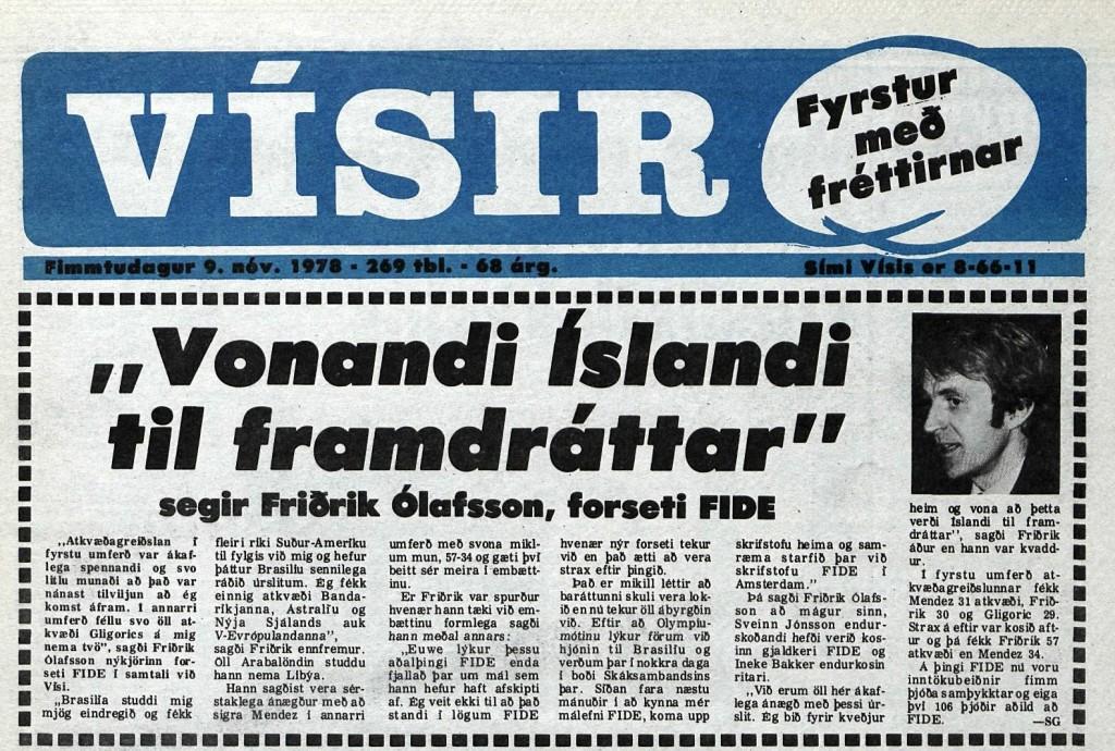 Friðrik forseti FIDE (4)